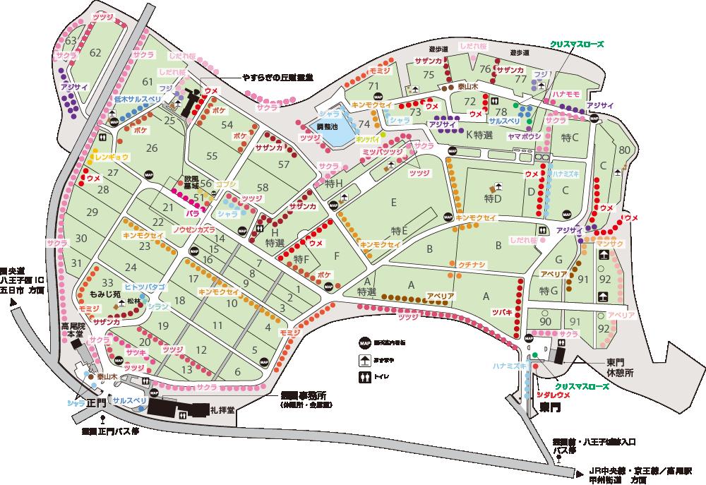 園内花木マップ